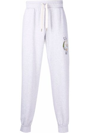 Casablanca Men Sweatpants - Tennis Club logo-embroidered track pants - Grey