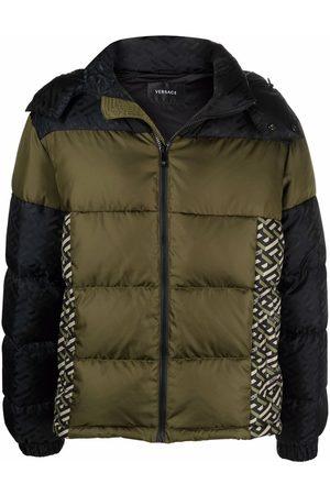 Versace Monogram-print puffer jacket