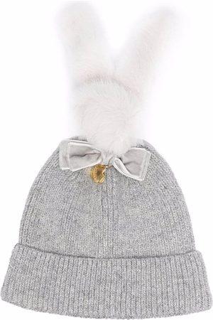 Monnalisa Bunny-ears beanie hat - Grey
