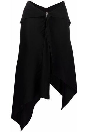 Givenchy Women Asymmetrical Skirts - Zip-front asymmetric skirt