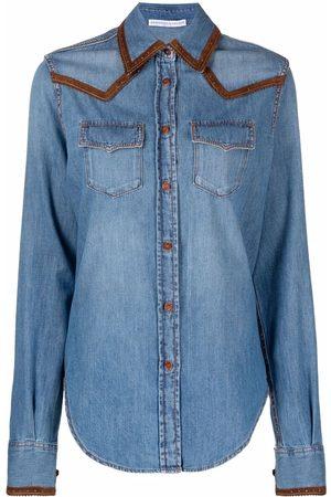 ERMANNO SCERVINO Women Denim - Contrasting-trim denim shirt