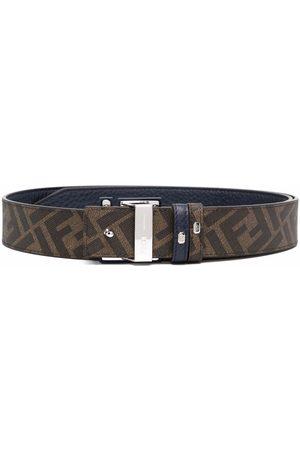 Fendi Men Belts - Reversible logo-buckle belt