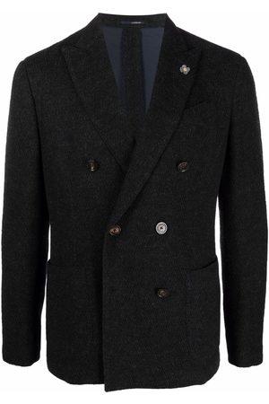 LARDINI Double-breasted wool blazer