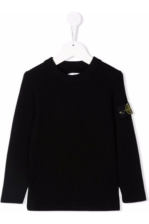 Stone Island Junior Logo-patch wool jumper