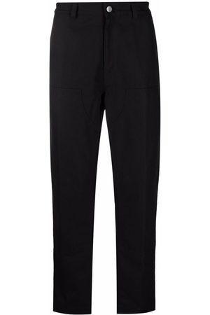 Moncler Contrast-panel detail straight-leg trousers