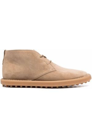 Tod's Lace-up suede ankle boots - Neutrals