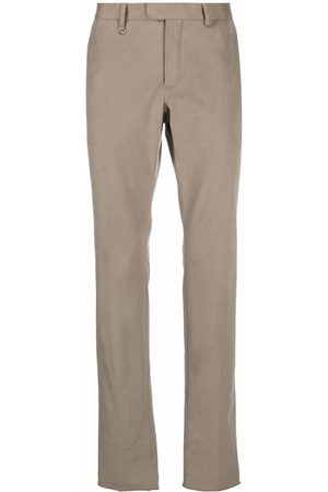 Z Zegna Mid-rise slim-fit trousers - Grey