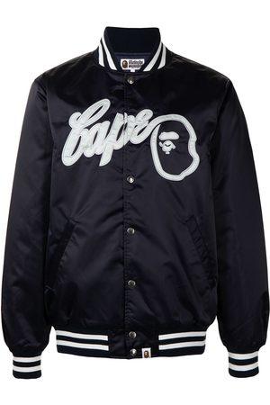A Bathing Ape Embroidered-logo bomber jacket