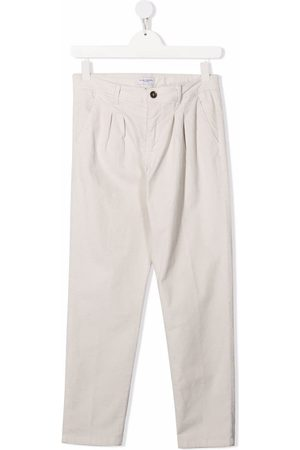 Paolo Pecora Kids Teen tailored trousers - Neutrals