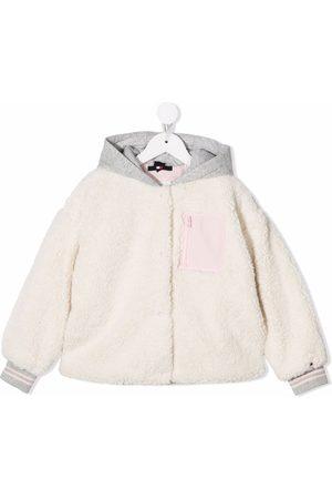 Tommy Hilfiger Girls Fleece Jackets - Embroidered-logo fleece jacket - Neutrals
