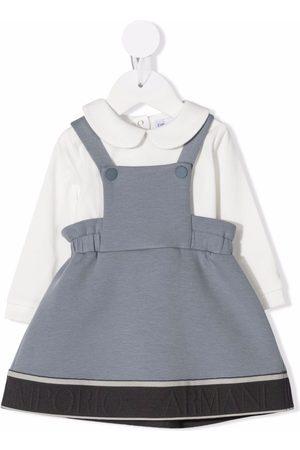 Emporio Armani Kids Pinafore long-sleeve dress
