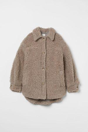 H & M Faux Shearling Shirt Jacket