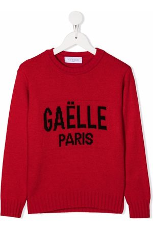 Gaelle Paris Kids Logo intarsia jumper