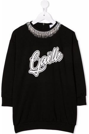 Gaelle Paris Kids Logo print sweatshirt dress