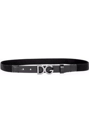 Dolce & Gabbana Kids Logo-buckle belt