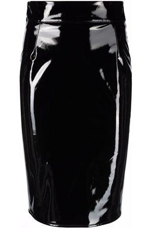 John Richmond High-shine pencil skirt