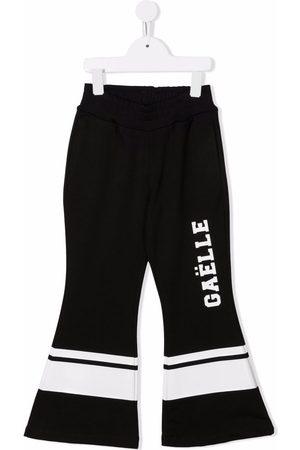 Gaelle Paris Kids Logo print flared trousers