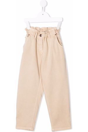 Bonpoint High-waist straight trousers - Neutrals