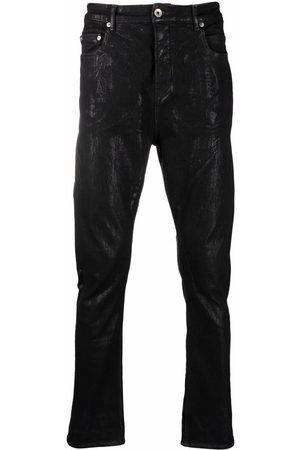 Rick Owens DRKSHDW Detroit Cut foil-treatment slim jeans