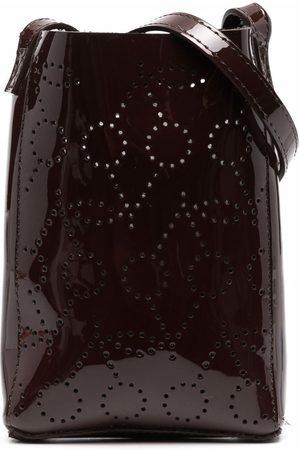 Bonpoint Perforated-cherry crossbody bag