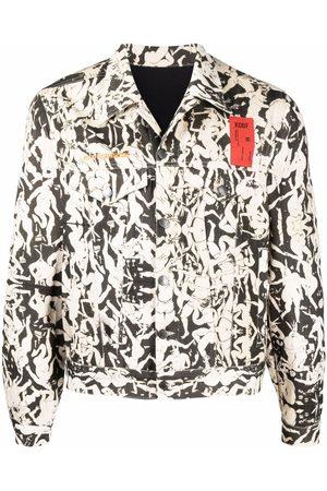 Kids of broken future Graphic-print organic cotton jacket