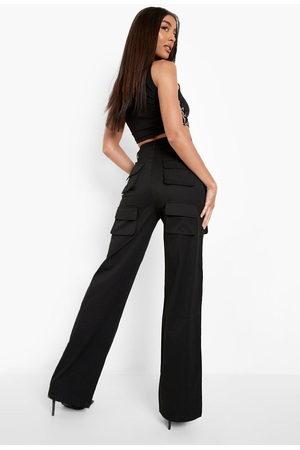 Boohoo Womens Multi Pocket Cargo Trouser - - 2