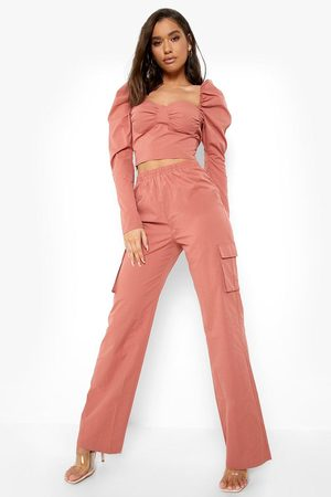 Boohoo Womens Utility Pocket Detail Pants - - 4