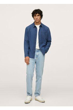 MANGO MAN Men Denim - Regular-fit denim shirt with pocket