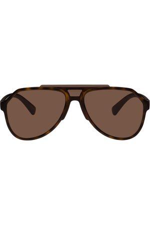 Dolce & Gabbana Tortoiseshell Aviator Sunglasses