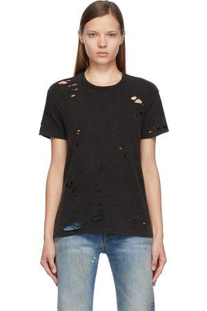R13 Black Crewneck Destroyed Boy T-Shirt