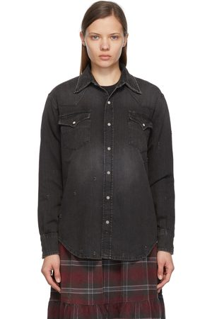 R13 Black Freddie Cowboy Shirt