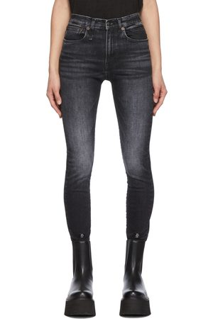 R13 Black Skinny Fit Stretch Denim Jeans