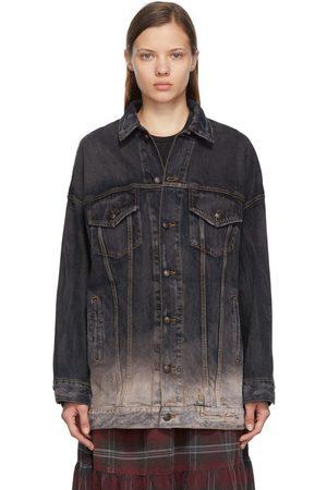 R13 Grey Denim Oversized Pat Trucker Jacket