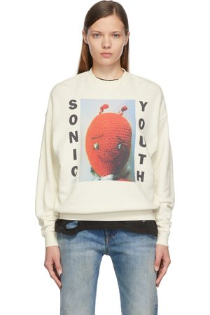 R13 Off-White Sonic Youth Dirty Oversized Sweatshirt