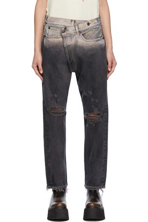 R13 Black Cross-Over Jeans