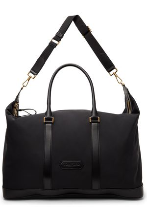 TOM FORD Black Nylon Holdall Duffle Bag