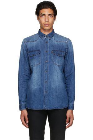 HUGO BOSS Blue Denim Elpaz Shirt