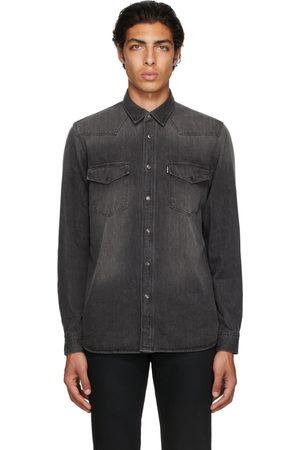 HUGO BOSS Grey Denim Elpaz Shirt