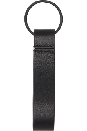 Common Projects Black Leather Keychain