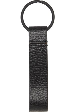 Common Projects Black Grained Leather Keychain