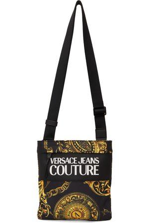 VERSACE Men Luggage - Black Regalia Baroque Messenger Bag