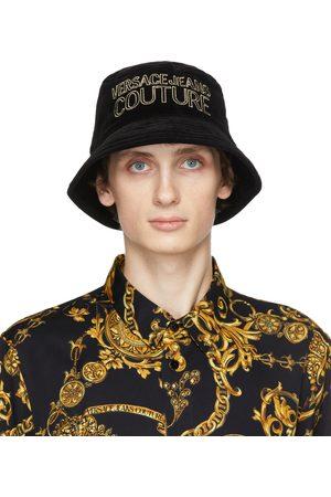 VERSACE Black Velvet Logo Bucket Hat