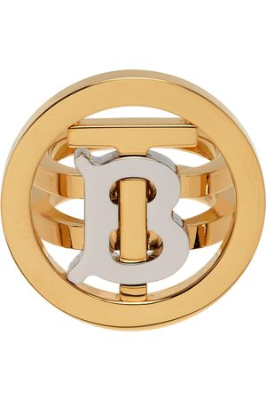 Burberry Gold Circle TB Signet Ring
