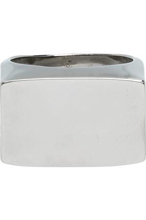 DRIES VAN NOTEN Men Rings - Silver Rectangle Flat Top Ring