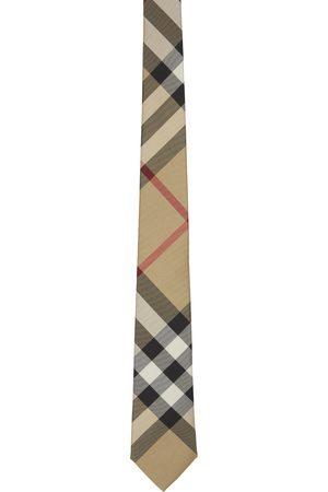 Burberry Beige Check Manston Tie