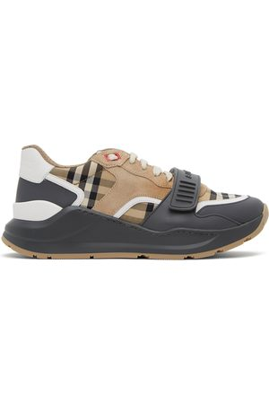 Burberry Beige Check Ramsay Sneakers