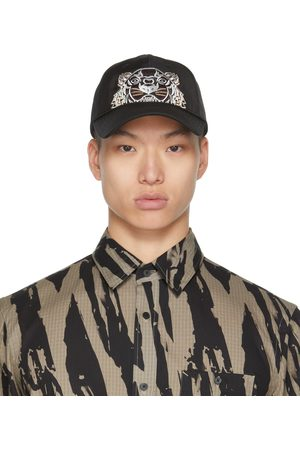 Kenzo Black Canvas Kampus Tiger Cap