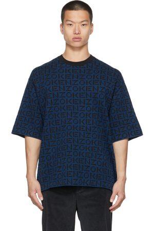 Kenzo Blue Knit Sport Monogram T-Shirt
