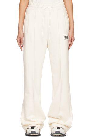 Msgm Off-White Logo Lounge Pants