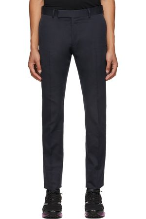 Dunhill Navy Single Pleat Trousers